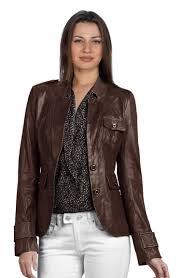 buy lustrous brown leather blazer