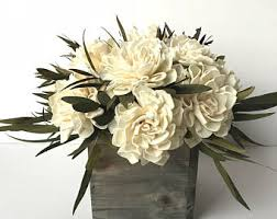 Dahlia Sola Flower Arrangement Centerpiece Bouquet Rustic Floral
