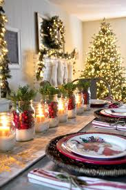 Dining Room Christmas Decorations Table Dinner Chair