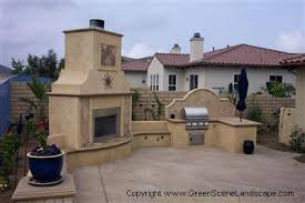 Spanish Style Sand Outdoor Kitchens The Green Scene Northridge