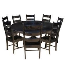 Nottingham Rustic Solid Wood Black Round Dining Room