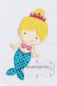 Little Mermaid Machine Embroidery Design For By Emoembroidery
