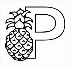 P Is For Pineapple Coloring Pages