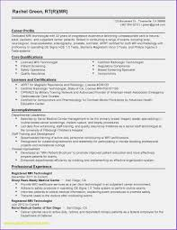 Rad Tech Resume Template Inspirational New Example 15 Year