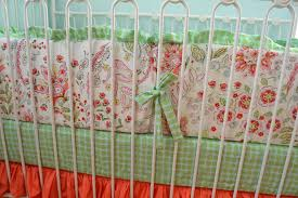 sale ready to ship floral mint coral crib bedding with bumpers