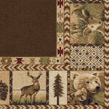 Area Rugs Navajo Rug Rustic Kitchen Lowes Log Cabin Wildlife
