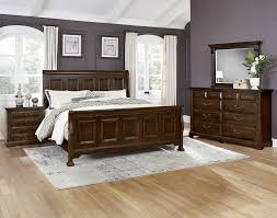 Vaughan Bassett Triple Dresser by Vaughan Bassett Woodlands Transitional Queen Mansion Storage Bed