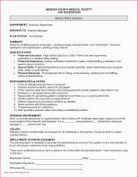 Medical Billing Specialist Resume Job Description For Examples Unique Claims