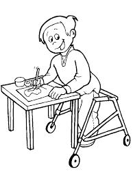 Special Needs Children Coloring