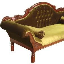 canap style colonial canapé colonial acajou velours vert grignon meuble de style