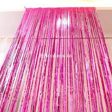 buy pink metallic foil fringe door curtain 2 4m party door