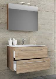vcm 3 tlg waschplatz badmöbel badezimmer set waschtisch waschbecken schubladen keramik badinos spiegelschrank breite 60 cm sonoma eiche sägerau