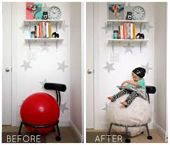 Stability Ball Desk Chair by Home Sewn Series Ball Chair Makeover Alida Makes