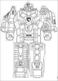 Power Rangers Megazord Coloring Pages 4