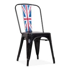 Xavier Pauchard Style Industrial Side Chair In Union Jack Black | Cult Tolix Style Armchair With Wooden Seat Wazo Fniture Tolix R Mynd Residential Replica Xavier Pauchard Chair Chairs Galvanised Ding Nick Scali Online Metal Bistro Stools Tables Amazoncom Designer Modern Elio In Silver Set Of 2 Cafe Bar Timber Buy The Mouette For Kids By