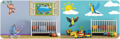 chambre de b b jungle stickers animaux pour chambre bébé et enfants décoration bébé