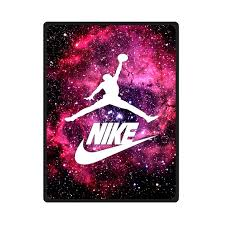 nike galaxy nebula michael jordan 23 bedding throw fleece blanket