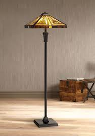 Quoizel Tiffany Style Floor Lamps by Quoizel Lamps Quoizel Stephen Tiffany Art Glass Floor Lamp