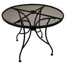 Outdoor Tablecloth With Umbrella Hole Uk by Round Metal Patio Side Table Home Outdoor Decoration