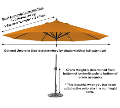 Patio Umbrella Canopy Replacement 6 Ribs 8ft by How To Measure Patio Umbrellas