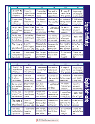 Confusing Verbs Battleship Board Game