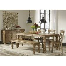 Ashley Furniture Trishley Rectangular Dining Extension Table Set In Light Brown