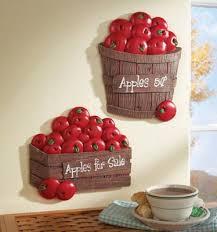 Set Of 2 Bushel Apples Kitchen Wall Decor