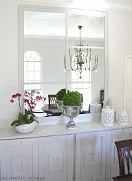 Oversized Mirror Over Dining Room Buffet