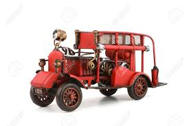 100 Antique Toy Fire Trucks Truck Model On White Background Stock Photo Picture