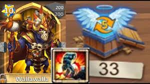 Castle Clash Pumpkin Duke Best Traits by 33 Level 5 Talent Chests For Stoneskin On Walla Walla Castle Clash