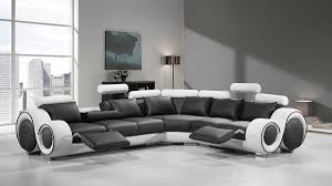 100 Modern Couch Design 4087 Black And White Leather Sectional Sofa