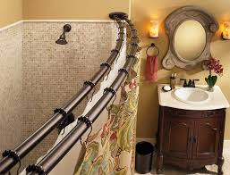 Menards Tension Curtain Rods by Decorate With Curved Shower Curtain Rod U2014 The Homy Design