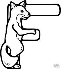 Click The Letter F Is For Fox Coloring Pages