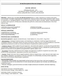 Dental Receptionist Resume Objective Example
