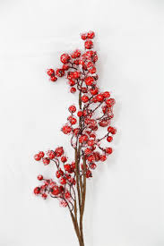 Winterberry Christmas Tree by Frosted Berry Branch