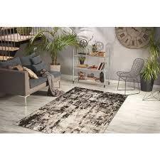 teppich flachflor vintage design wohnzimmer teppiche beige braun 80cm x 150cm