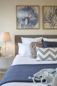 Shabby Chic Coastal Beach Style Hamptons Master Bedroom Waffle Bedding
