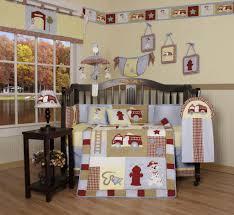 geenny baby boy fire truck 13pcs crib bedding set