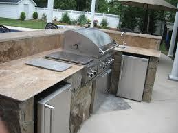 Stone Outdoor Kitchen Charlotte With Travertine Countertop