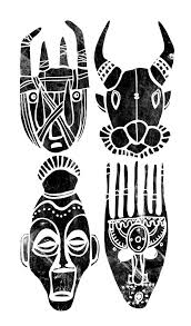 Masks Clipart West African 12