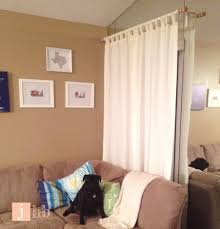 Ikea Curtain Wire Room Divider by Curtains Creative Ways To Hang Curtains Without A Rod Diy