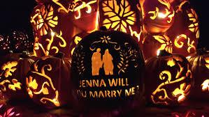 Great Pumpkin Blaze by Wedding Proposal Ideas Custom Carved Pumpkin Pops The Question
