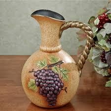 Grape Decor For Kitchen by Vineyard Grapes Decorative Pitcher Vase