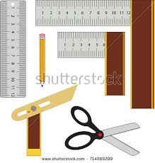 Vector Collection Of Woodworker Or Carpenter Hand Tools For Marking Layout Measuring And