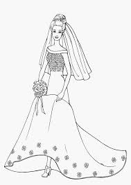 Barbie Bride Coloring Pages