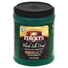 Folgers Coffee Ground Dark Black Silk Decaf