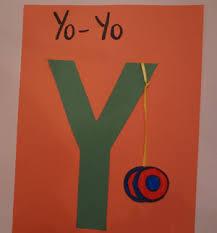 Letter Y Yo Yo Craft
