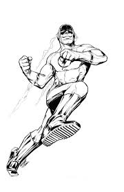 Kid Flash Simbel Superhero Coloring Pages The