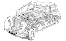 Cut Away Technical Illustration Of 1950 Bentley MK VI