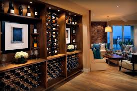 Black Pipe Wine Rack Cellar Contemporary With Bar Wall Treatment